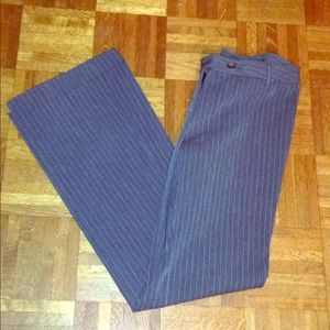 Express gray pinstripe wide leg trousers
